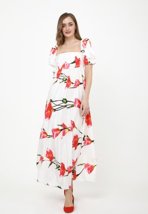 AMORESSA - Maxi dress - weiß koralle