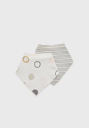 INTERLOCK BANDANA COWL NECK 2 PACK UNISEX - Halsdoek - offwhite/striped grey/anthracite