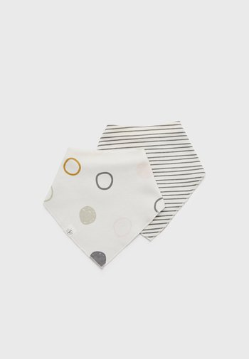 INTERLOCK BANDANA COWL NECK 2 PACK UNISEX - Foulard - offwhite/striped grey/anthracite