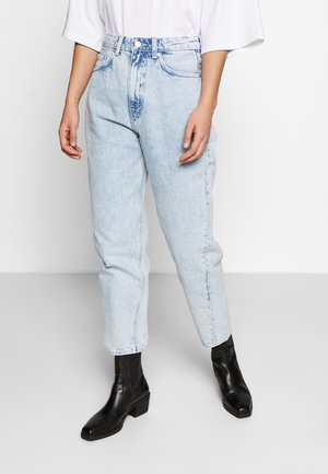 MEG HIGH MOM WASHED BACK - Jeans straight leg - aqua blue
