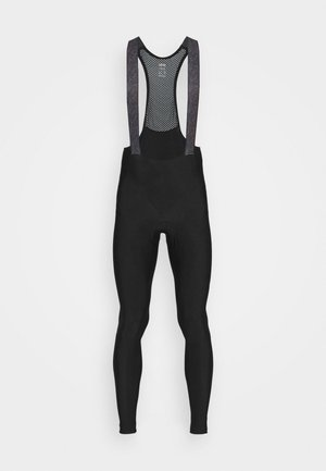 C3 THERMO TRÄNGERHOSE - Leggings - black/neon yellow