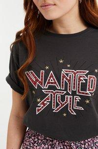 WE Fashion - Print T-shirt - dark grey - 2