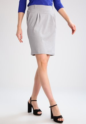 JILLIAN SKIRT - Pencil skirt - light grey melange