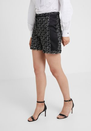 BOUCLE - Shorts - black/white