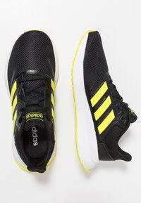 adidas Performance - RUNFALCON - Zapatillas de running neutras - core black/shock yellow - 1