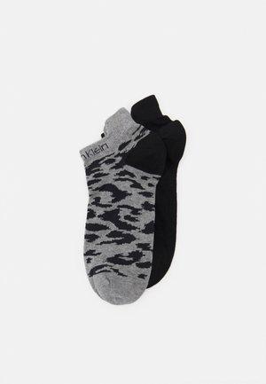WOMEN SNEAKER LEOPARD 2 PACK - Socks - black