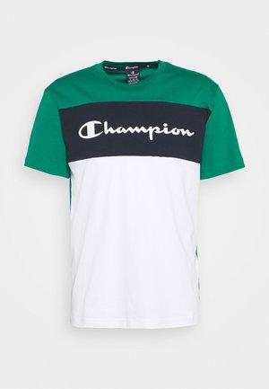 CREWNECK - T-shirt z nadrukiem - green/white/navy