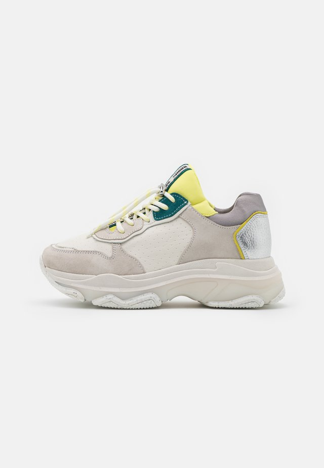 BAISLEY - Sneakers laag - offwhite/yellow/teal