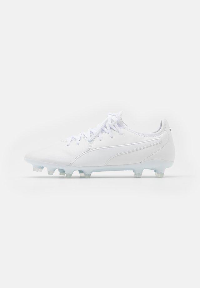 KING PRO FG - Botas de fútbol con tacos - white
