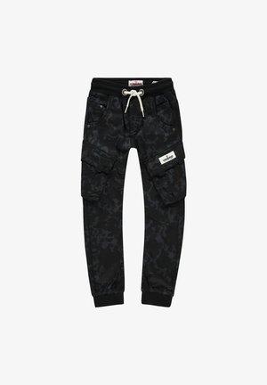 Cargo trousers - black allover