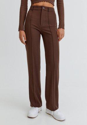 Trousers - mottled light brown