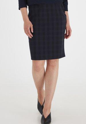 FRMECHECK - A-line skirt - navy blazer mix