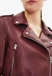Bershka - Faux leather jacket - bordeaux - 3