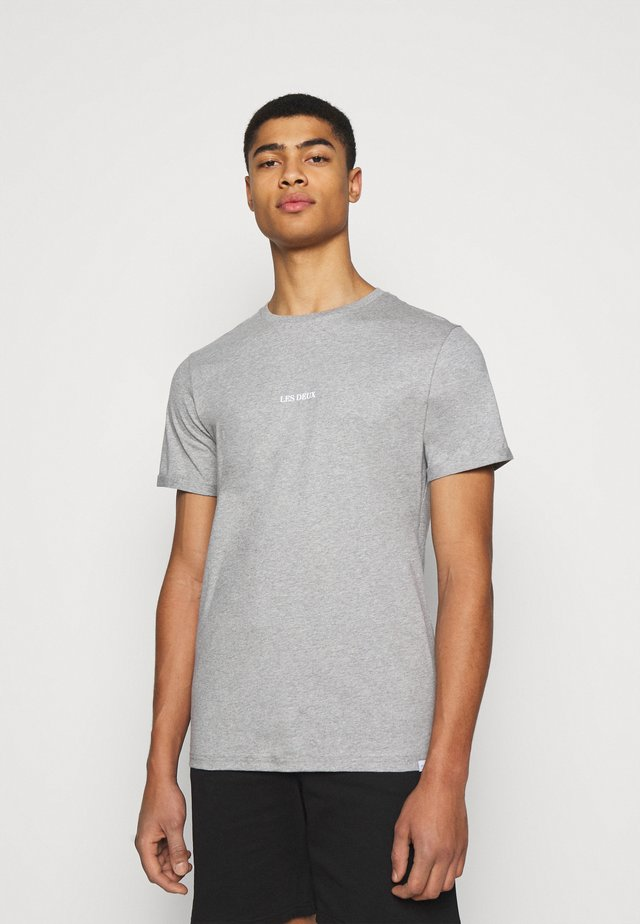 LENS - Print T-shirt - light grey melange/white