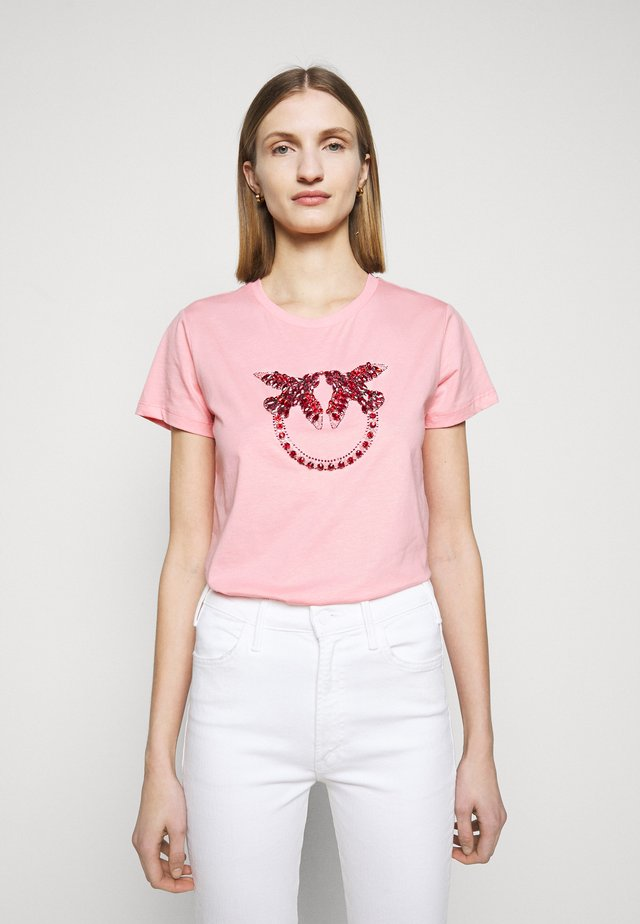 QUENTIN - T-shirt z nadrukiem - rosa