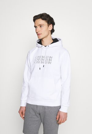 TRIPLE CENTER LOGO HOODIE - Sweater - white