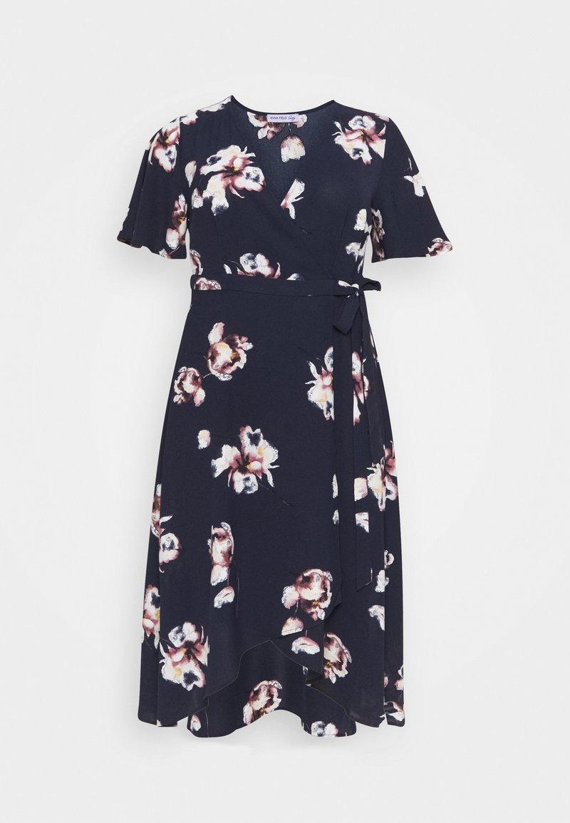 Anna Field Curvy - Day dress - blue/pink