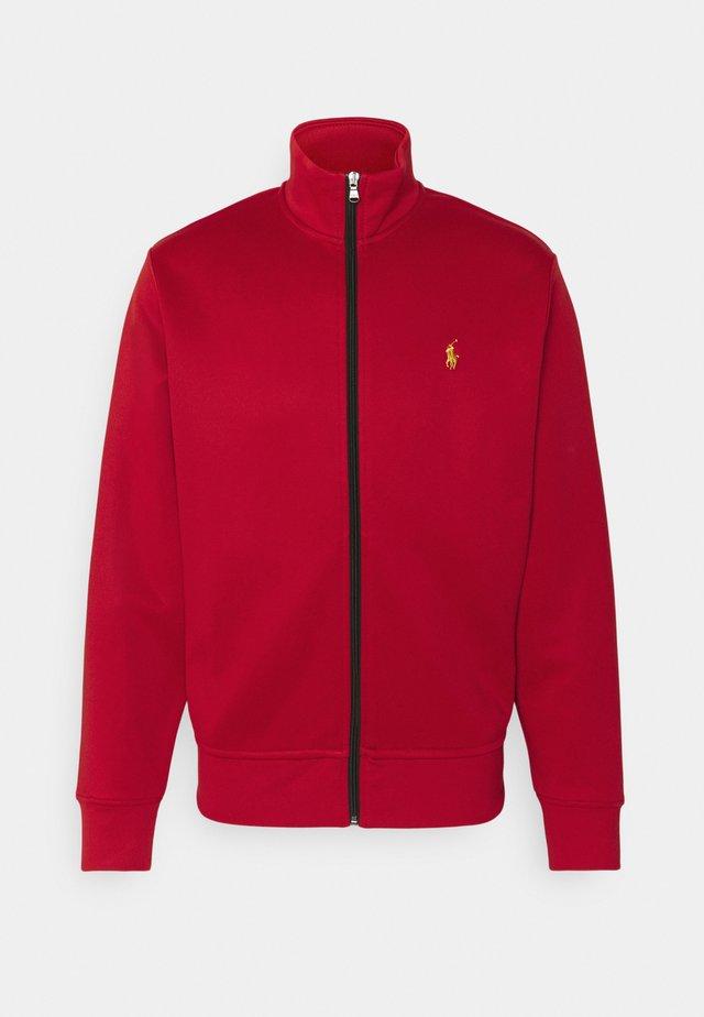 TRACK - veste en sweat zippée - red