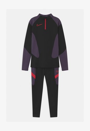 ACADEMY SET UNISEX - Tracksuit - black/siren red