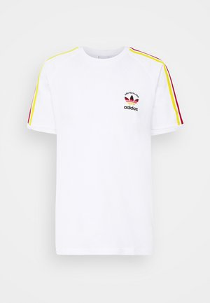 STRIPES SPORTS INSPIRED SHORT SLEEVE TEE UNISEX - Camiseta estampada - white