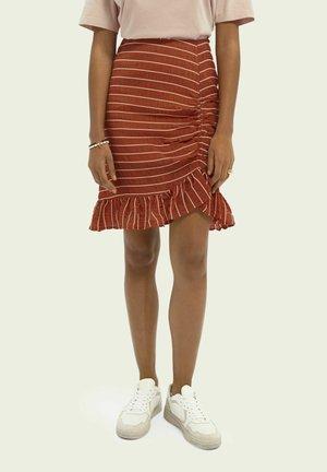 Puffball skirt - rust