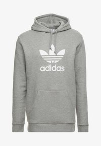 adidas Originals - TREFOIL HOODIE UNISEX - Hoodie - mottled grey heather - 3
