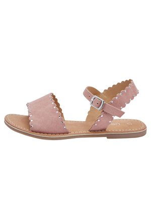 PINK LEATHER SCALLOPED SANDALS (OLDER) - Sandals - pink