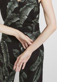 mine to five TOM TAILOR - Jumpsuit - black tropical leaves design - 4