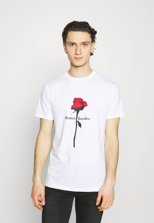 PARADISE ROSE TEE - Triko spotiskem - white