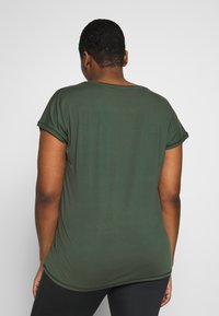 Active by Zizzi - ABASIC ONE - Camiseta básica - green gables