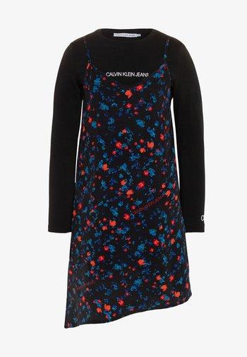 ASYMETRIC FLOWER DRESS SET