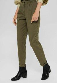 Esprit Collection - Trousers - dark khaki - 0