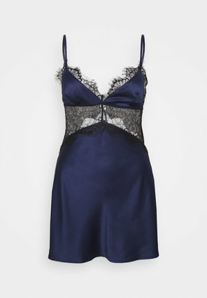 HELENA TRIANGLE SLIP DRESS - Nightie - navy