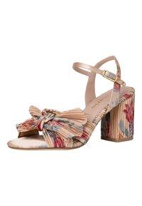 Tamaris - High heeled sandals - beige flower - 1