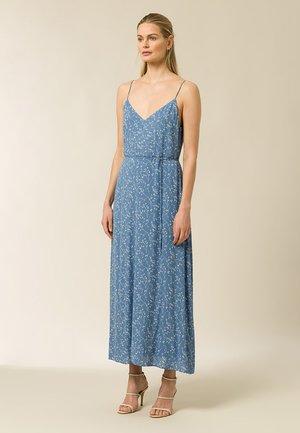 Maxi dress - aop - leaf sea blue