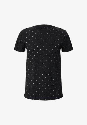 T-shirt med print - black mini palm leaf print