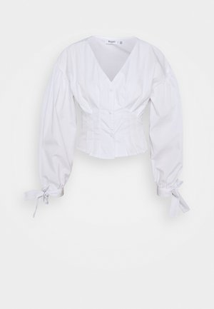 CINCHED WAIST - Blouse - white