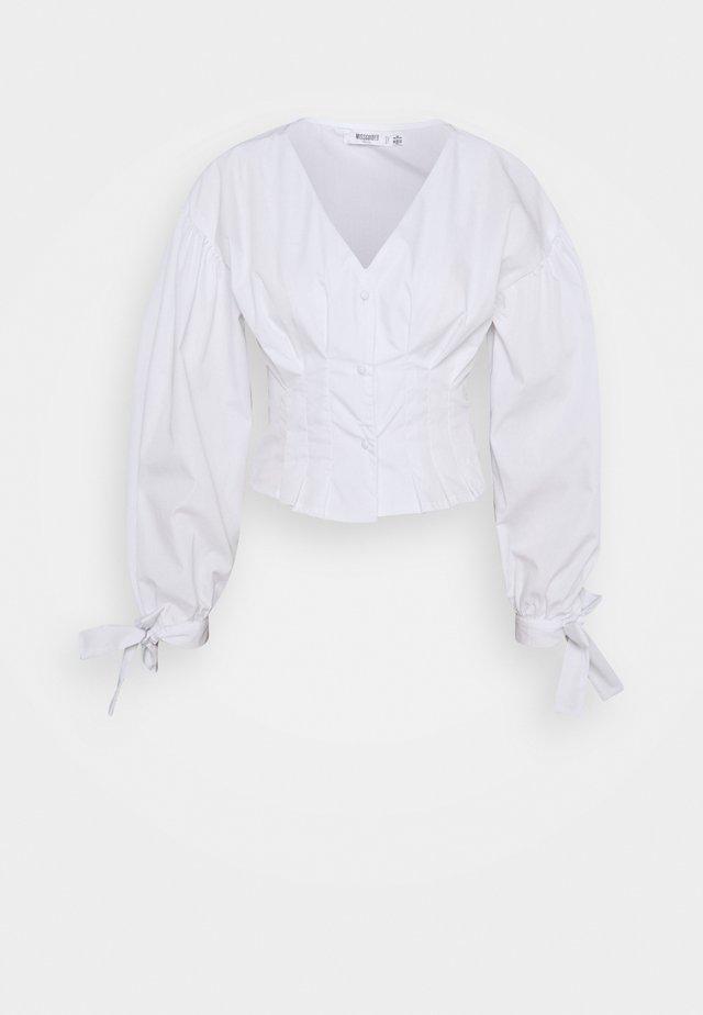 CINCHED WAIST - Blusa - white