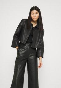 Stylein - VEREL - Faux leather jacket - black - 4
