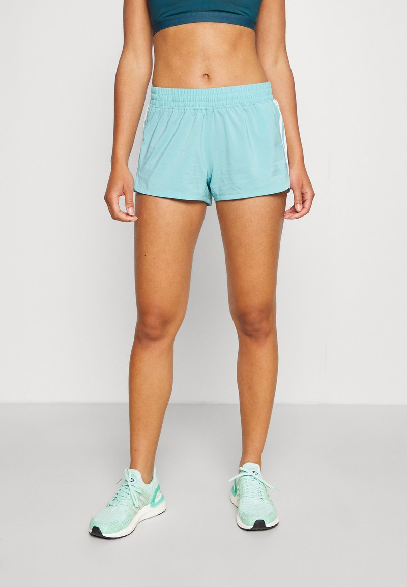adidas Performance - PACER - Sports shorts - mint ton/white