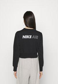 Nike Sportswear - AIR CREW  - Sweatshirt - black/white - 2