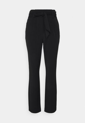 ONLSUNNY PAPERBAG BELT PANT - Trousers - black