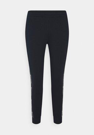 CUFF TAPING PANTS - Teplákové kalhoty - dark blue