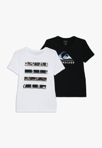 Quiksilver - STACK VISION FLAXTON 2 PACK - T-Shirt print - white/black - 0