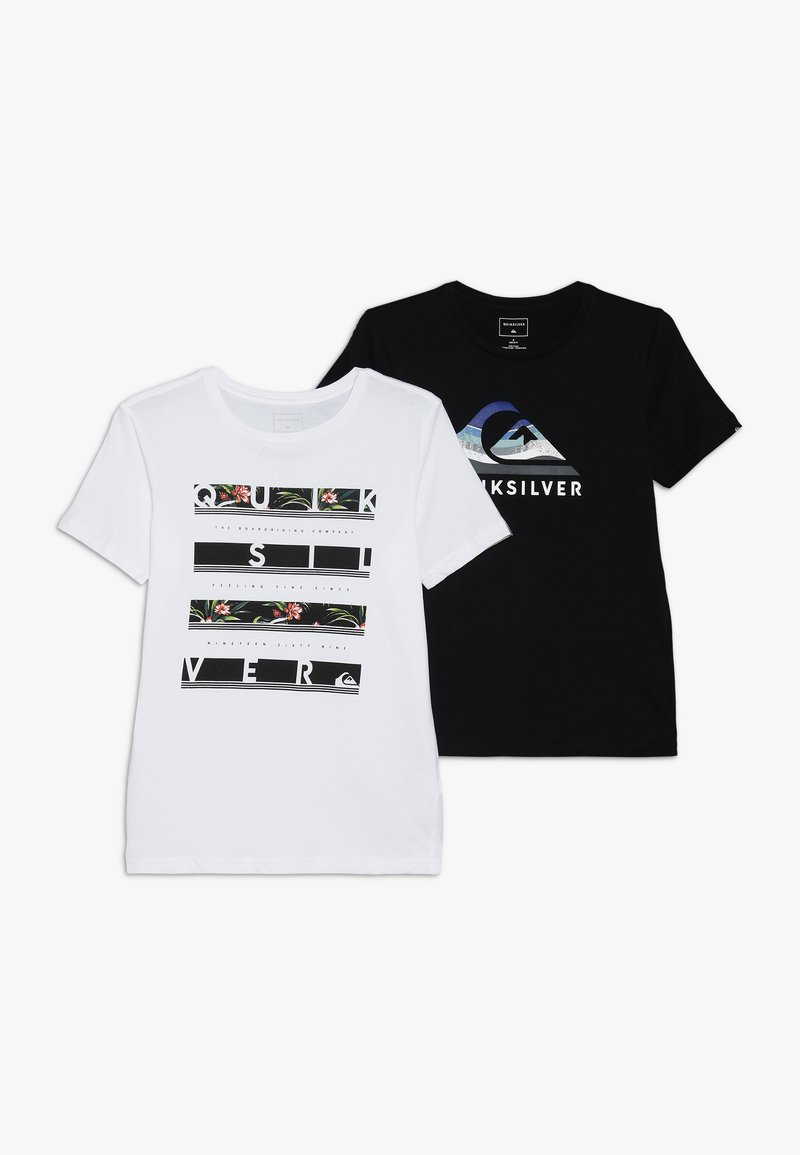 Quiksilver - STACK VISION FLAXTON 2 PACK - T-Shirt print - white/black