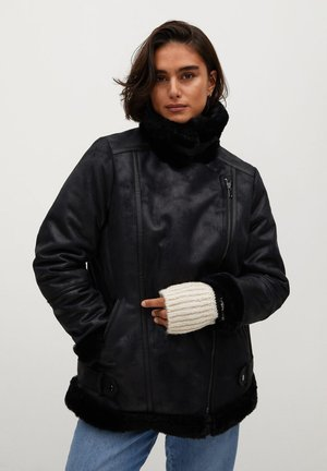 MOTOR7 - Faux leather jacket - schwarz
