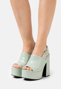 Jeffrey Campbell - Platform sandals - mint green - 0