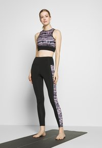 South Beach - SEAMLESS SMOKEY CROPCUT SEW - Top - black/grey - 1