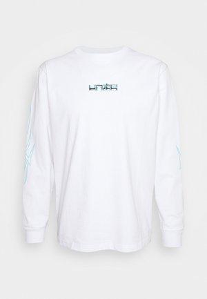 HACK PRINTED LONGSLEEVE UNISEX  - Print T-shirt - white