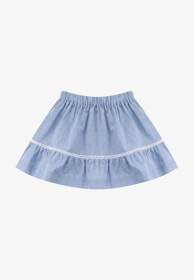 A-line skirt - medium denim